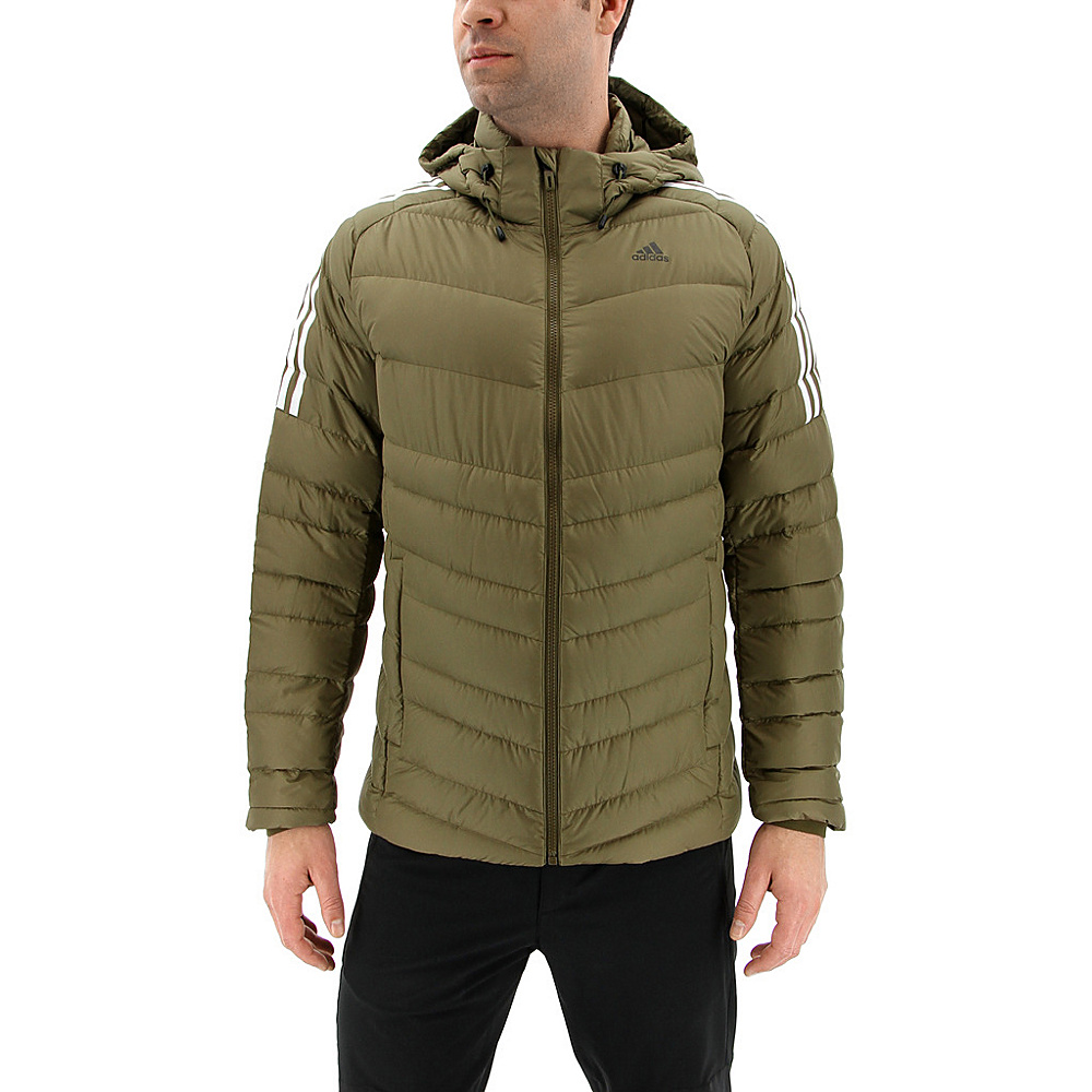 adidas outdoor Mens Climawarm Itavic 3-Stripe Jacket S - Trace Olive/White/Black - adidas outdoor Mens Apparel - Apparel & Footwear, Men's Apparel