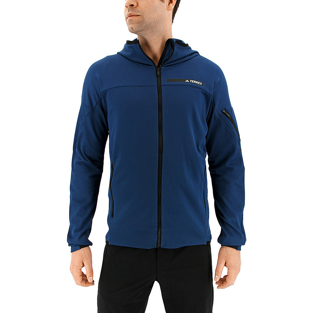 adidas outdoor Mens Terrex Radical Fleece Jacket L - Blue Night - adidas outdoor Mens Apparel - Apparel & Footwear, Men's Apparel