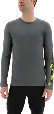 adidas outdoor Mens Logo Long Sleeve Tee M - Grey Five - adidas outdoor Men's Apparel