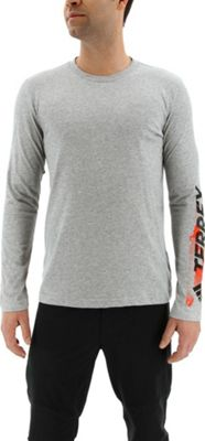 adidas outdoor Mens Logo Long Sleeve Tee XL - Medium Grey Heather - adidas outdoor Men's Apparel