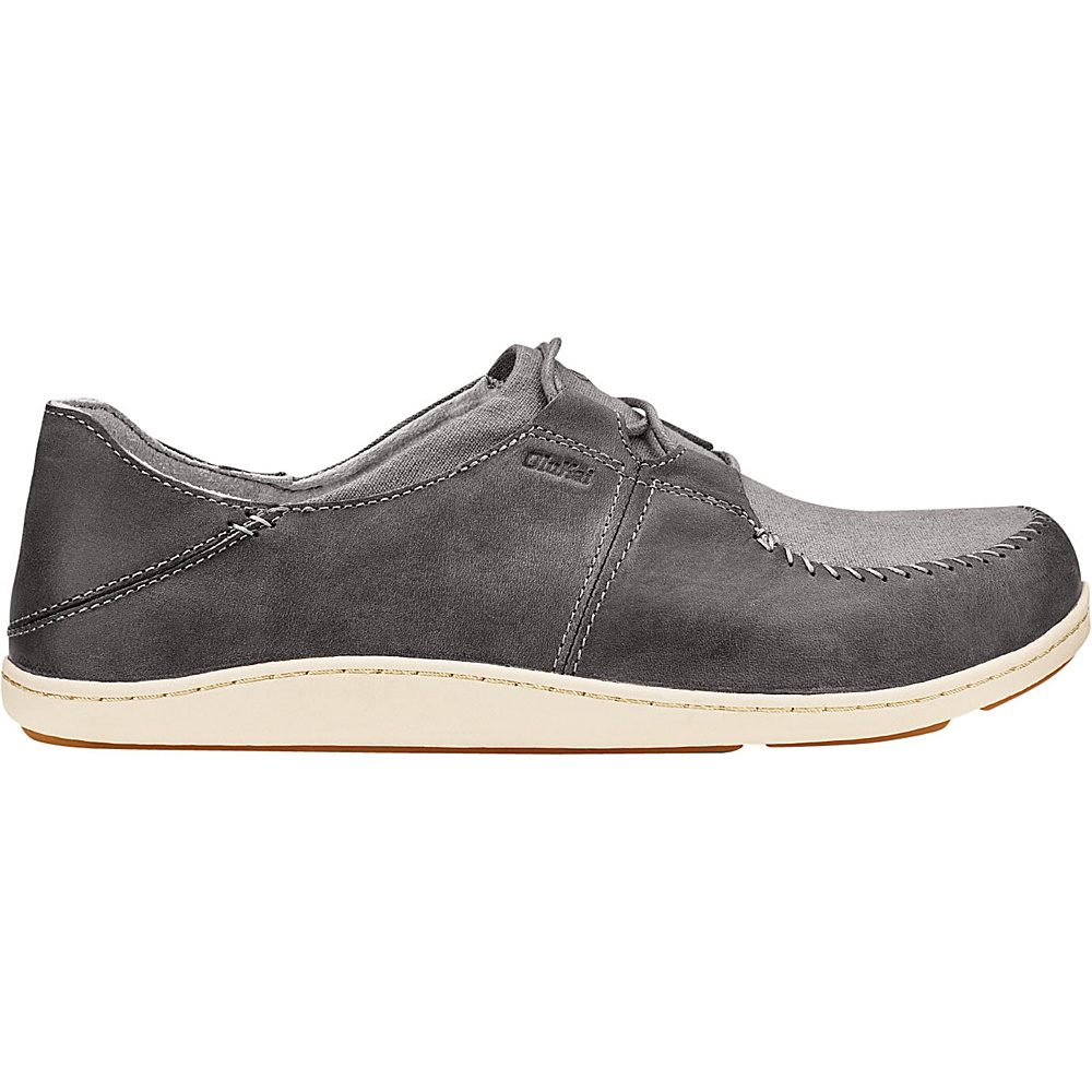 OluKai Mens Honua Slip-On 8 - Charcoal/Charcoal - OluKai Mens Footwear - Apparel & Footwear, Men's Footwear