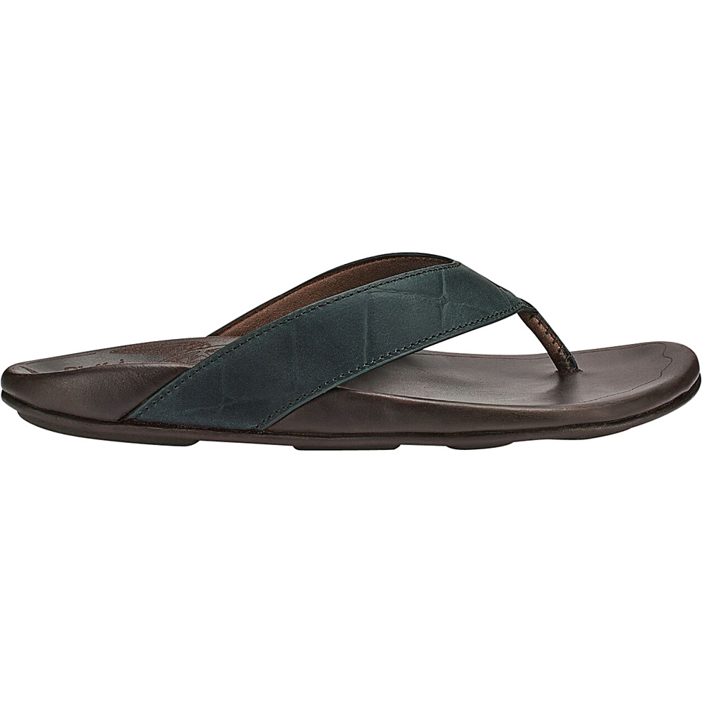 OluKai Mens Kohana Kai Sandal 9 - Moss/Dark Wood - OluKai Mens Footwear - Apparel & Footwear, Men's Footwear