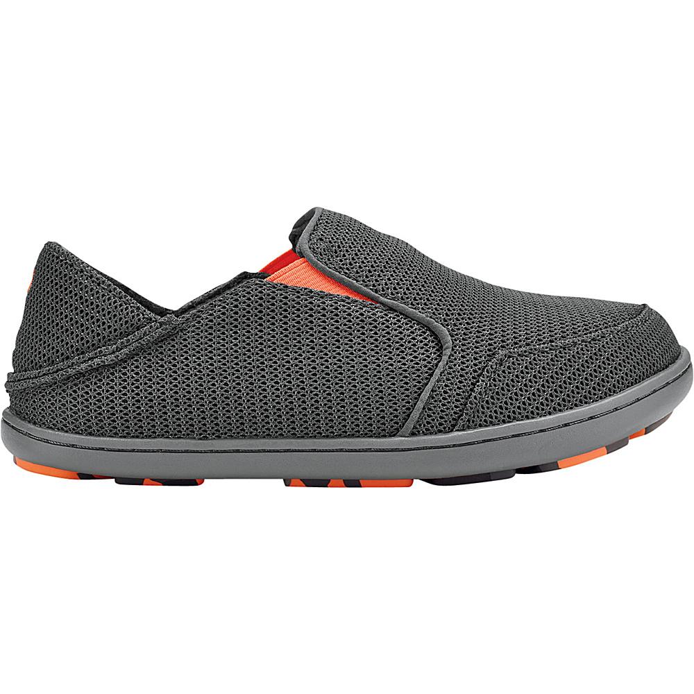 OluKai Boys Nohea Mesh Slip-On 13 (US Kids) - Dark Shadow/Blaze - OluKai Mens Footwear - Apparel & Footwear, Men's Footwear