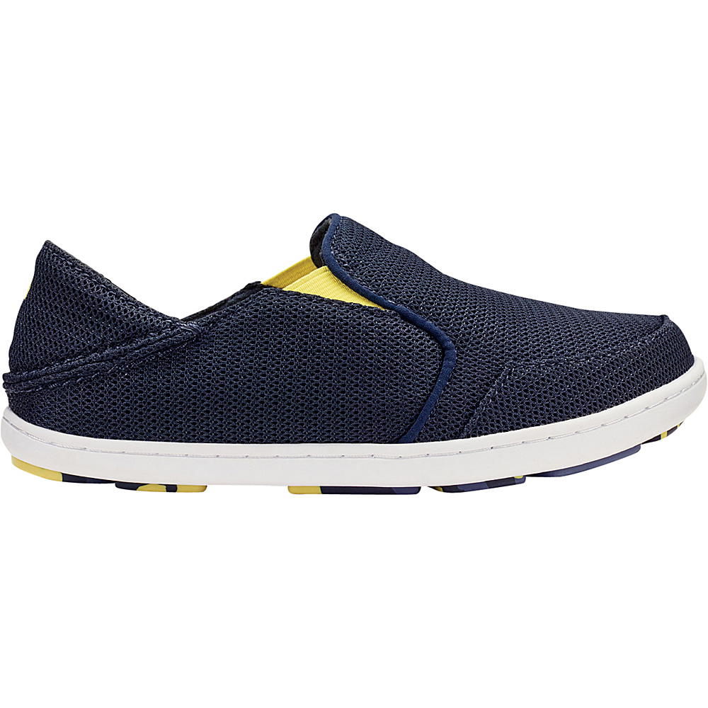 OluKai Boys Nohea Mesh Slip-On 12 (US Kids) - Trench Blue/Bright Moss - OluKai Mens Footwear - Apparel & Footwear, Men's Footwear
