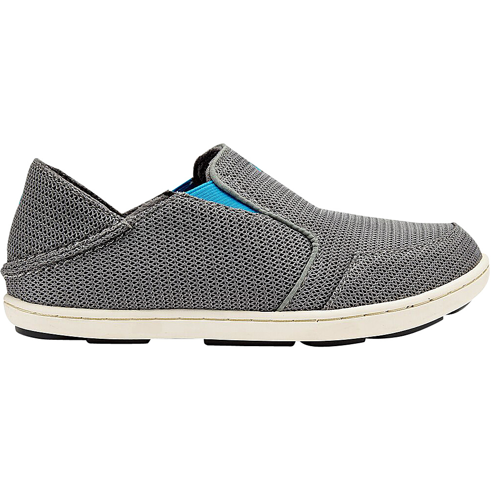 OluKai Boys Nohea Mesh Slip-On 10 (US Toddlers) - Grey/Scuba - OluKai Mens Footwear - Apparel & Footwear, Men's Footwear