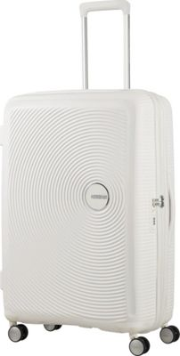 American Tourister Curio 25 inch Hardside Checked Spinner Luggage White - American Tourister Hardside Checked