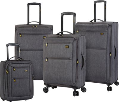 LEE Lee 4 Piece Expandable Softside Luggage Set Gray - LEE Luggage Sets