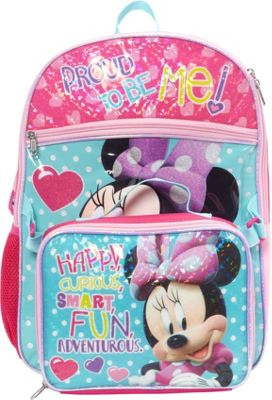 Disney Minnie Backpack with Lunch Bag Blue - Disney Kids' Backpacks