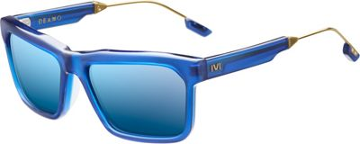 IVI IVI Deano Sunglasses Matte Midway Blue - Antique Brass - IVI Eyewear