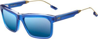 IVI Deano Sunglasses Matte Midway Blue - Antique Brass - IVI Eyewear