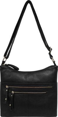 Great American Leatherworks Catania Adjustable Crossbody Black Neutral/Black - Great American Leatherworks Leather Handbags