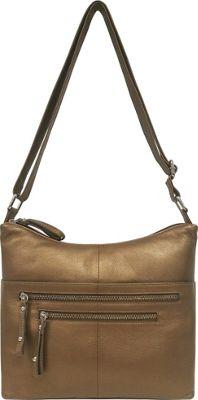 Great American Leatherworks Catania Adjustable Crossbody Dark Bronze - Great American Leatherworks Leather Handbags
