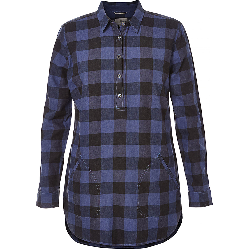 Royal Robbins Womens Jackson Plaid Tunic XS - Blue Indigo - Royal Robbins Womens Apparel - Apparel & Footwear, Women's Apparel