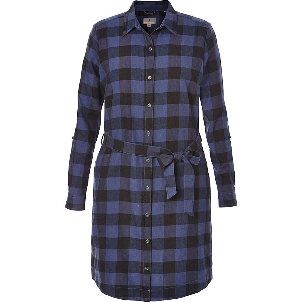 Royal Robbins Womens Jackson Plaid Dress XS - Blue Indigo - Royal Robbins Womens Apparel - Apparel & Footwear, Women's Apparel