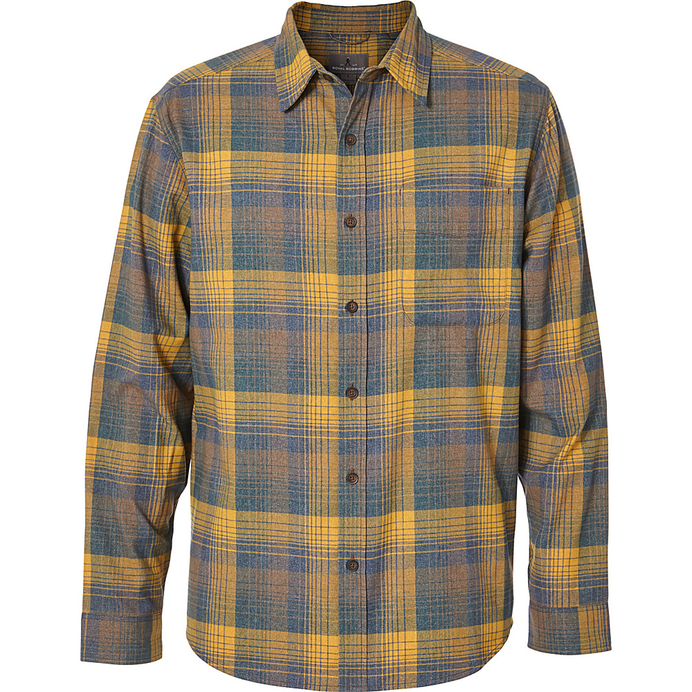 Royal Robbins Mens Vintage Performance Flannel Plaid Long Sleeve Shirt L - Earth - Royal Robbins Mens Apparel - Apparel & Footwear, Men's Apparel