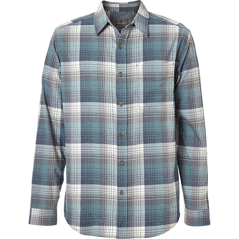 Royal Robbins Mens Vintage Performance Flannel Plaid Long Sleeve Shirt XL-T - Slate - Royal Robbins Mens Apparel - Apparel & Footwear, Men's Apparel