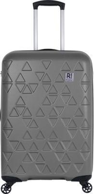 Revelation Echo Max 27 inch Expandable Hardside Checked Spinner Luggage Charcoal - Revelation Large Rolling Luggage
