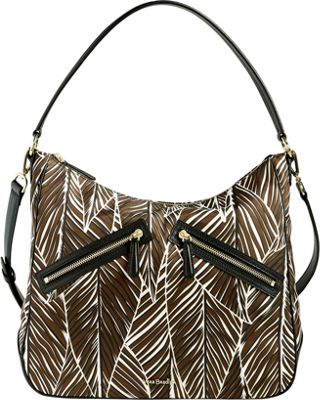 Vera Bradley Vivian Hobo Bag - Retired Colors Banana Leaves Brown - Vera Bradley Fabric Handbags