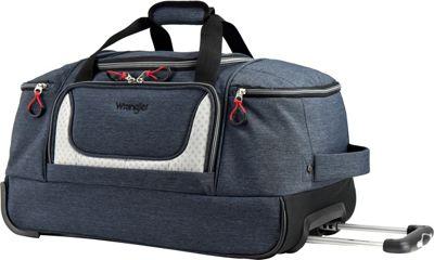 Wrangler 28 inch Multi-Pocket Rolling Duffel Navy - Wrangler Travel Duffels