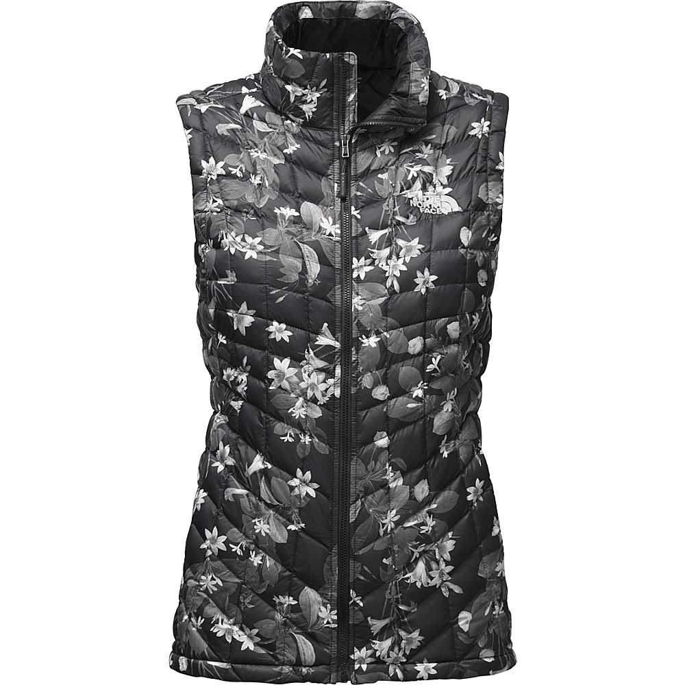 The North Face Womens Thermoball Vest S - TNF Black Late Bloomer Print - The North Face Womens Apparel - Apparel & Footwear, Women's Apparel