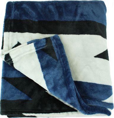 Quagga Green Mi Casa Blanket Scarf Navy - Quagga Green Travel Pillows & Blankets