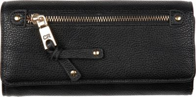 Club Rochelier Clutch Wallet with Checkbook and Gusset Black - Club Rochelier Women's Wallets