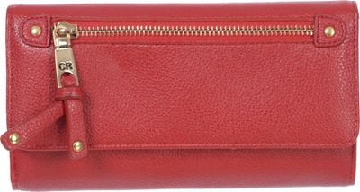 Club Rochelier Clutch Wallet with Checkbook and Gusset Red - Club Rochelier Women's Wallets