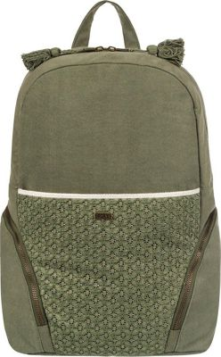Roxy Bombora 28L Large Backpack Dusty Olive - Roxy Everyday Backpacks