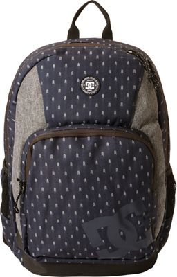 DC Shoes Men's The Locker 23L Medium Laptop Backpack Dark Indigo/Heather Grey - DC Shoes Laptop Backpacks