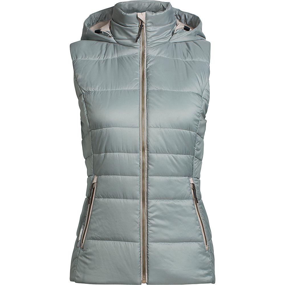 Icebreaker Womens Stratus X Hooded Vest M - Drift/Fawn Heather - Icebreaker Womens Apparel - Apparel & Footwear, Women's Apparel
