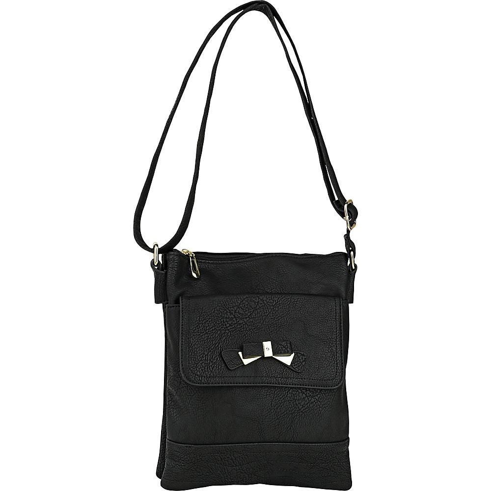 MKF Collection by Mia K. Farrow Alexandra Crossbody Black - MKF Collection by Mia K. Farrow Manmade Handbags - Handbags, Manmade Handbags