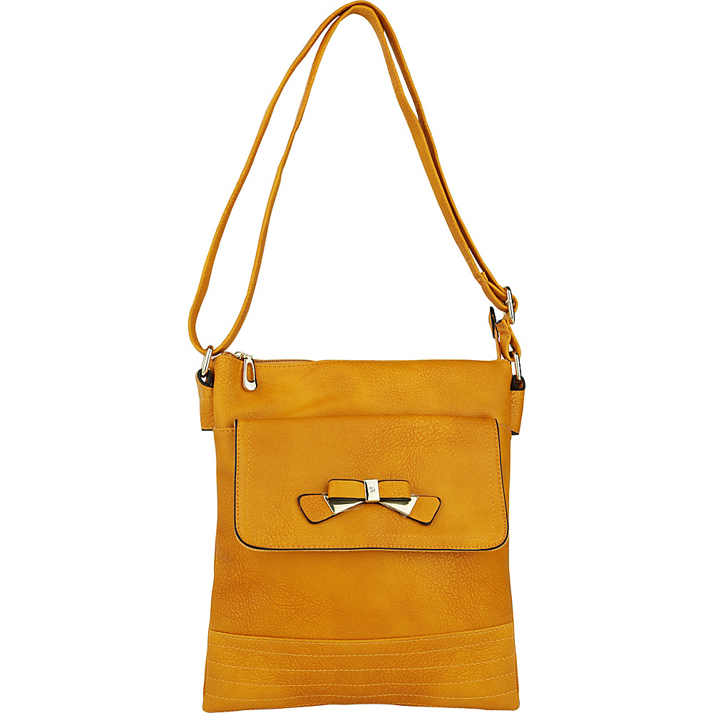 MKF Collection by Mia K. Farrow Alexandra Crossbody Mustard - MKF Collection by Mia K. Farrow Manmade Handbags - Handbags, Manmade Handbags