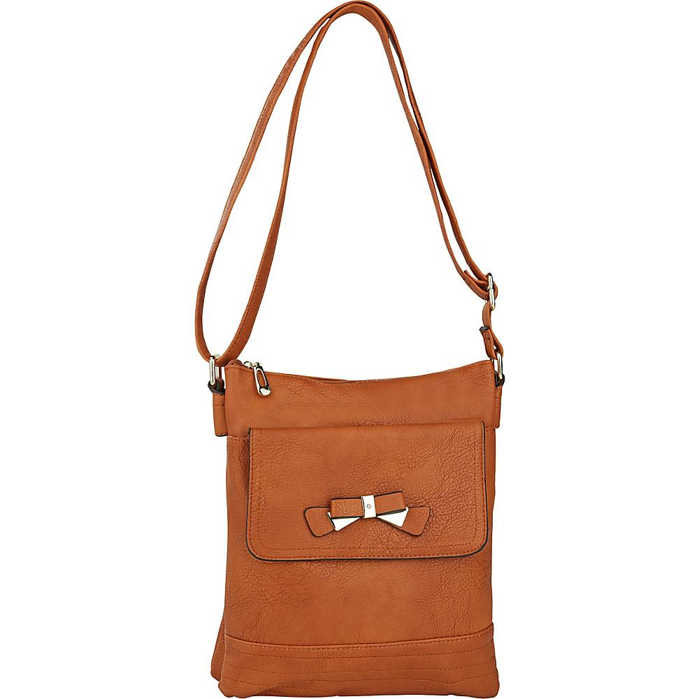 MKF Collection by Mia K. Farrow Alexandra Crossbody Brown - MKF Collection by Mia K. Farrow Manmade Handbags - Handbags, Manmade Handbags