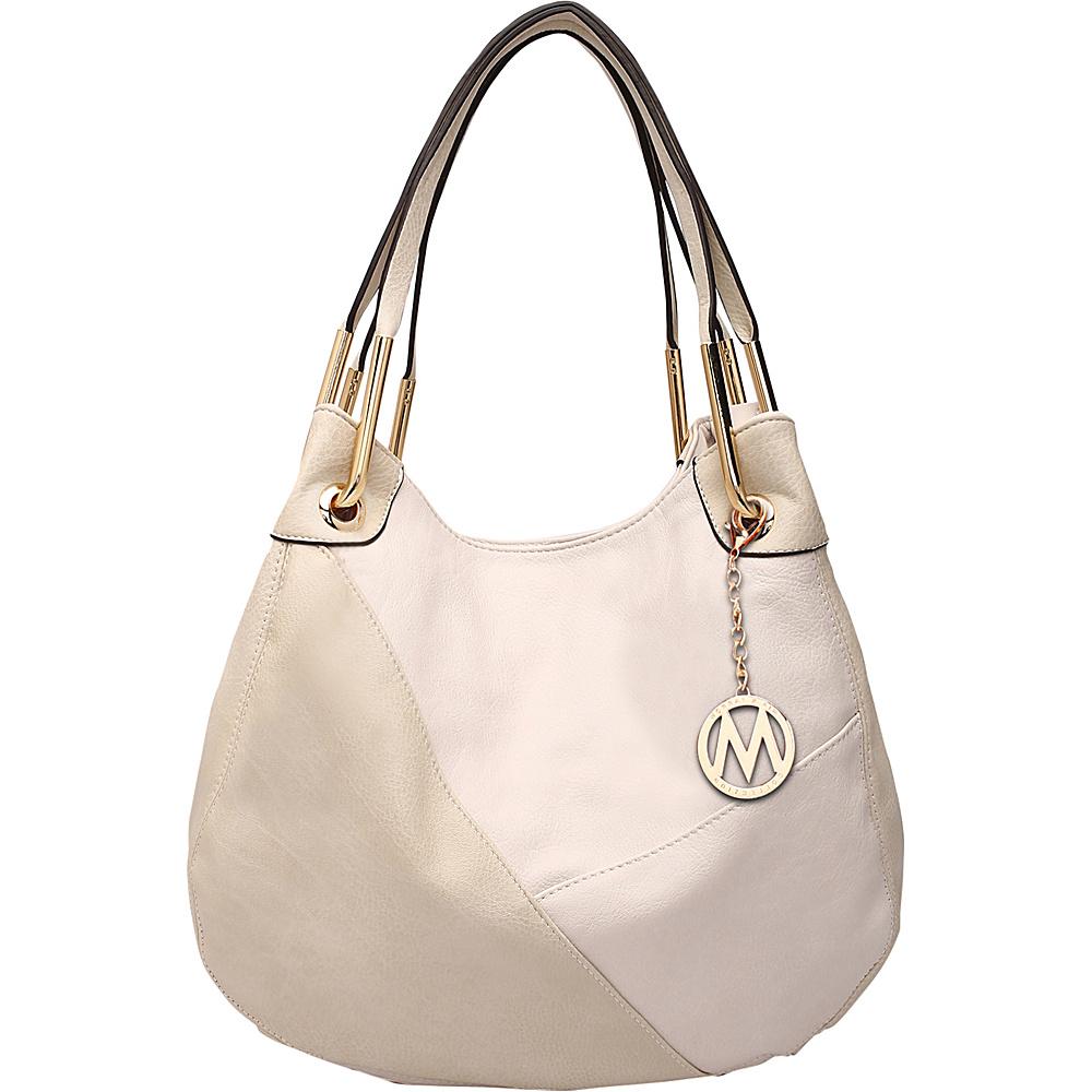 MKF Collection by Mia K. Farrow Delle Hobo Beige - MKF Collection by Mia K. Farrow Manmade Handbags - Handbags, Manmade Handbags