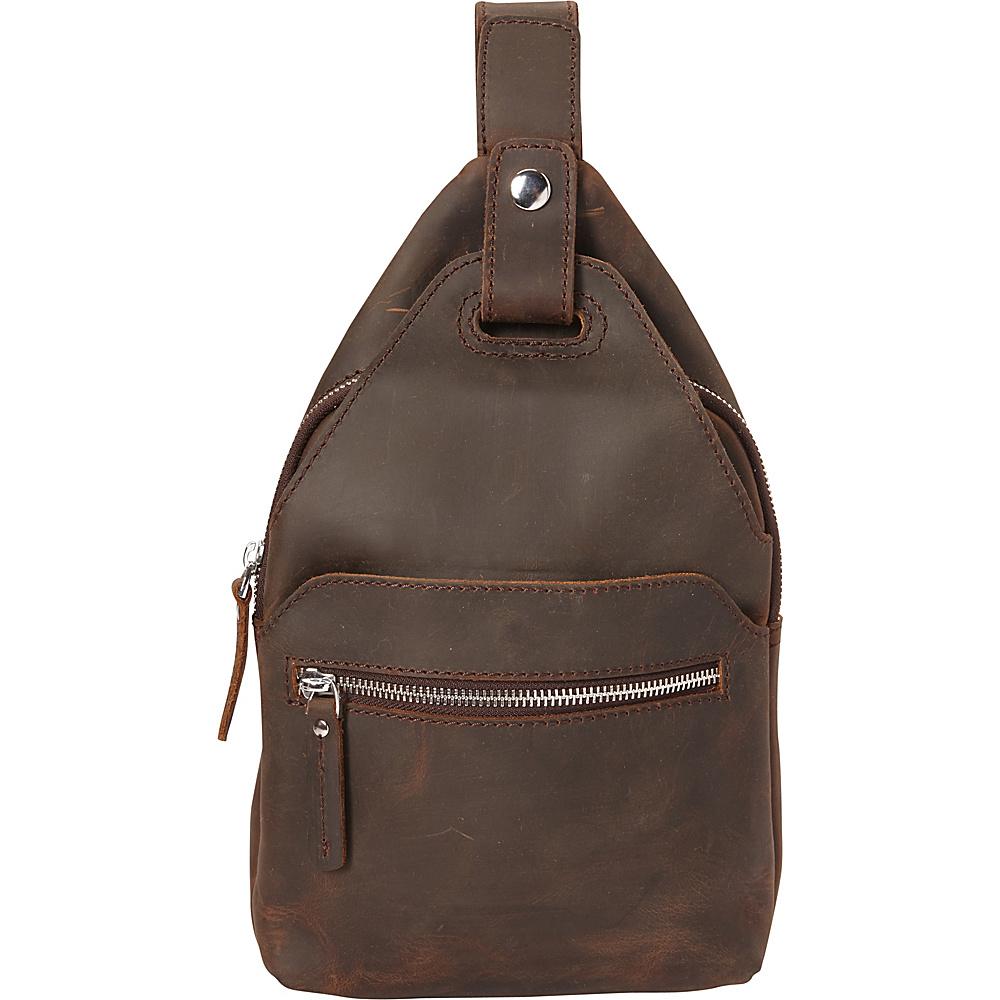 Vagabond Traveler Chest Pack Travel Companion Backpack Dark Brown - Vagabond Traveler Slings - Backpacks, Slings