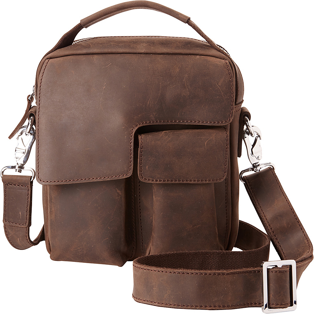 Vagabond Traveler Small Shoulder Bag with Lift Handle Distress - Vagabond Traveler Other Mens Bags - Work Bags & Briefcases, Other Men's Bags