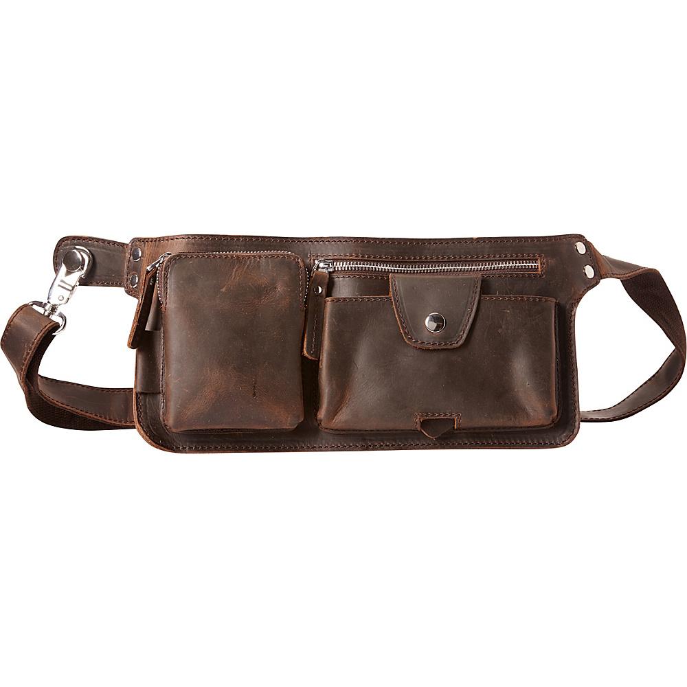 Vagabond Traveler Slim Long Shape Waist Bag Dark Brown - Vagabond Traveler Waist Packs - Backpacks, Waist Packs