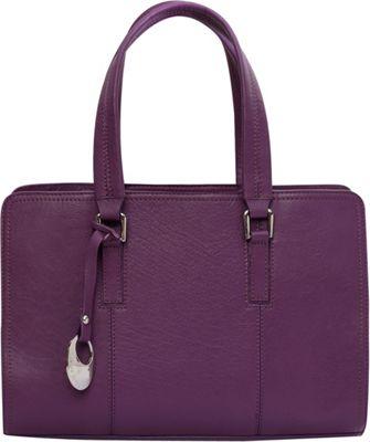 Phive Rivers Double Handle EW Tote Purple - Phive Rivers Leather Handbags