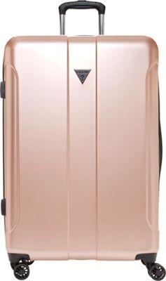 GUESS Travel Lustre 2 - 28 inch Hardside Spinner Checked Luggage Rose Gold - GUESS Travel Hardside Checked