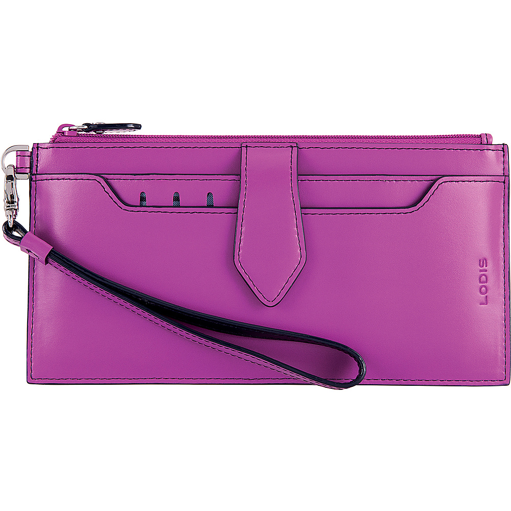 Lodis Audrey RFID Queenie Wallet With Removable Card Case Orchid/Navy - Lodis Womens Wallets - Women's SLG, Women's Wallets