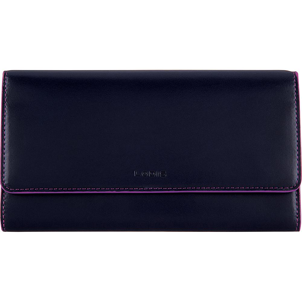 Lodis Audrey RFID Luna Clutch Wallet Navy/Orchid - Lodis Womens Wallets - Women's SLG, Women's Wallets