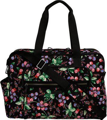 Vera Bradley Iconic Deluxe Weekender Travel Bag Winter Berry - Vera Bradley Travel Duffels