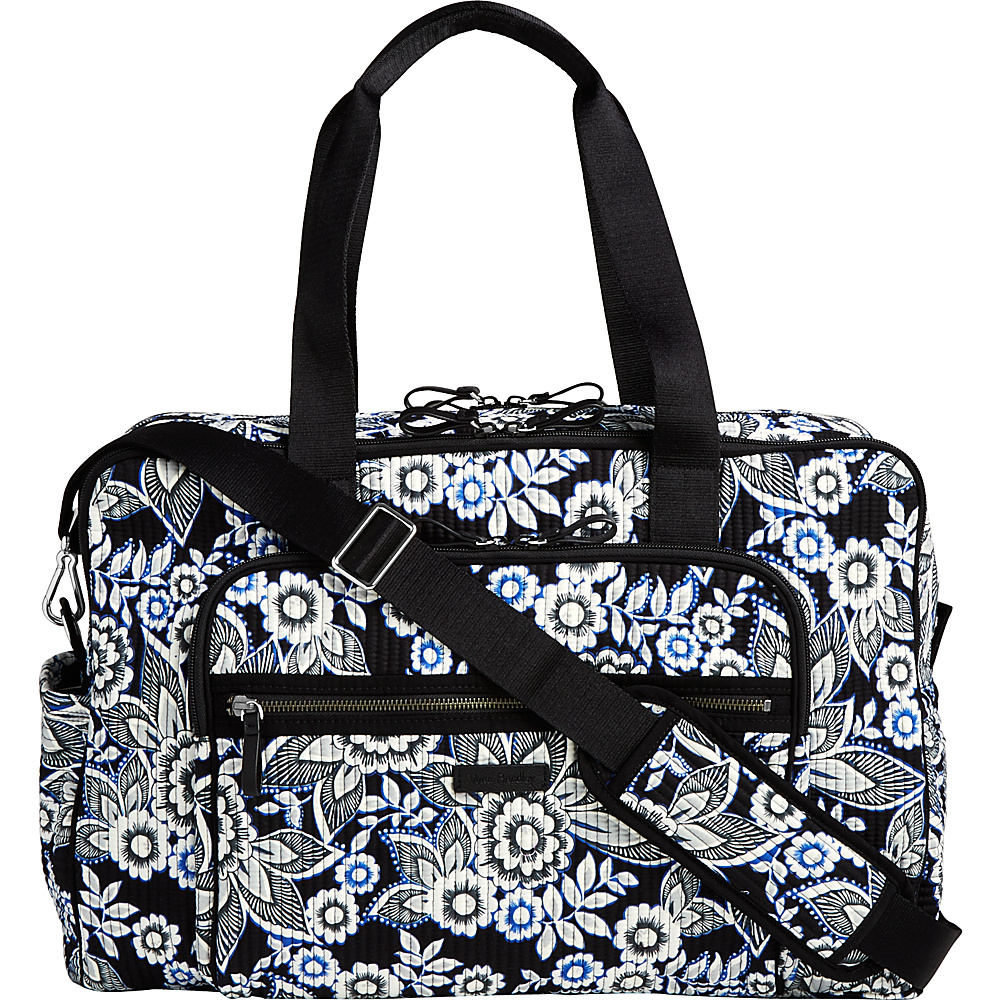 Vera Bradley Iconic Deluxe Weekender Travel Bag Snow Lotus - Vera Bradley Travel Duffels - Duffels, Travel Duffels