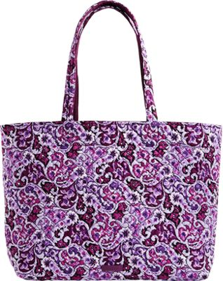 Vera Bradley Iconic Grand Tote Lilac Paisley - Vera Bradley Fabric Handbags