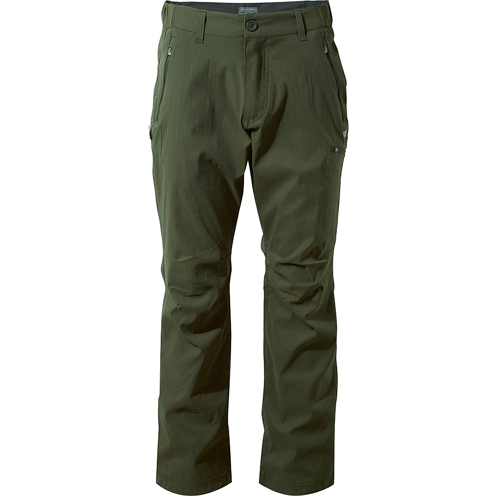 Craghoppers Nat Geo Kiwi Pro Trousers 32 - Short - Dark Khaki - Craghoppers Mens Apparel - Apparel & Footwear, Men's Apparel