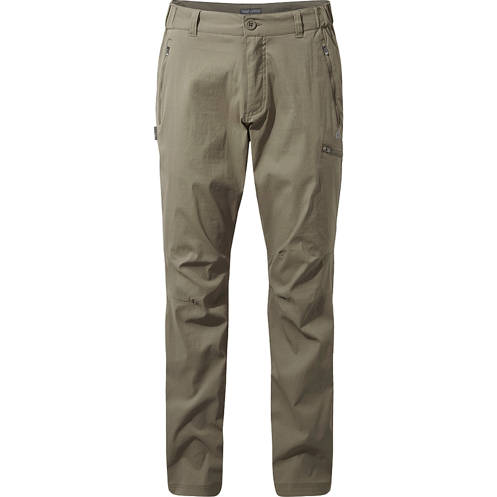 Craghoppers Nat Geo Kiwi Pro Trousers 34 - Long - Pebble - Craghoppers Mens Apparel - Apparel & Footwear, Men's Apparel