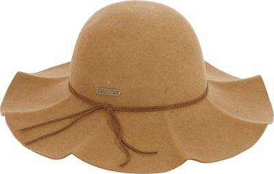 Image of Adora Hats Wool Felt Floppy Ruffle Brim One Size - Brown - Adora Hats Hats/Gloves/Scarves