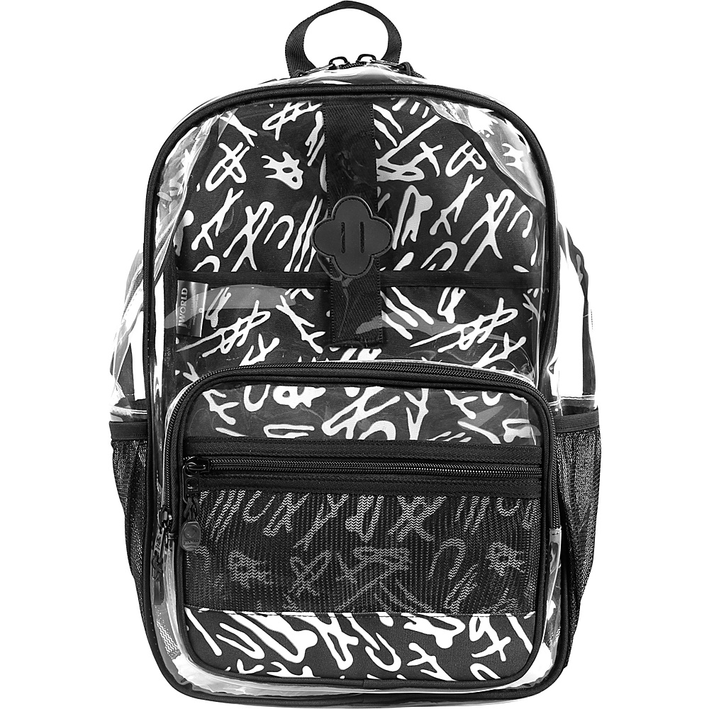 J World New York Clear Transparent Backpack Script - J World New York Laptop Backpacks - Backpacks, Laptop Backpacks