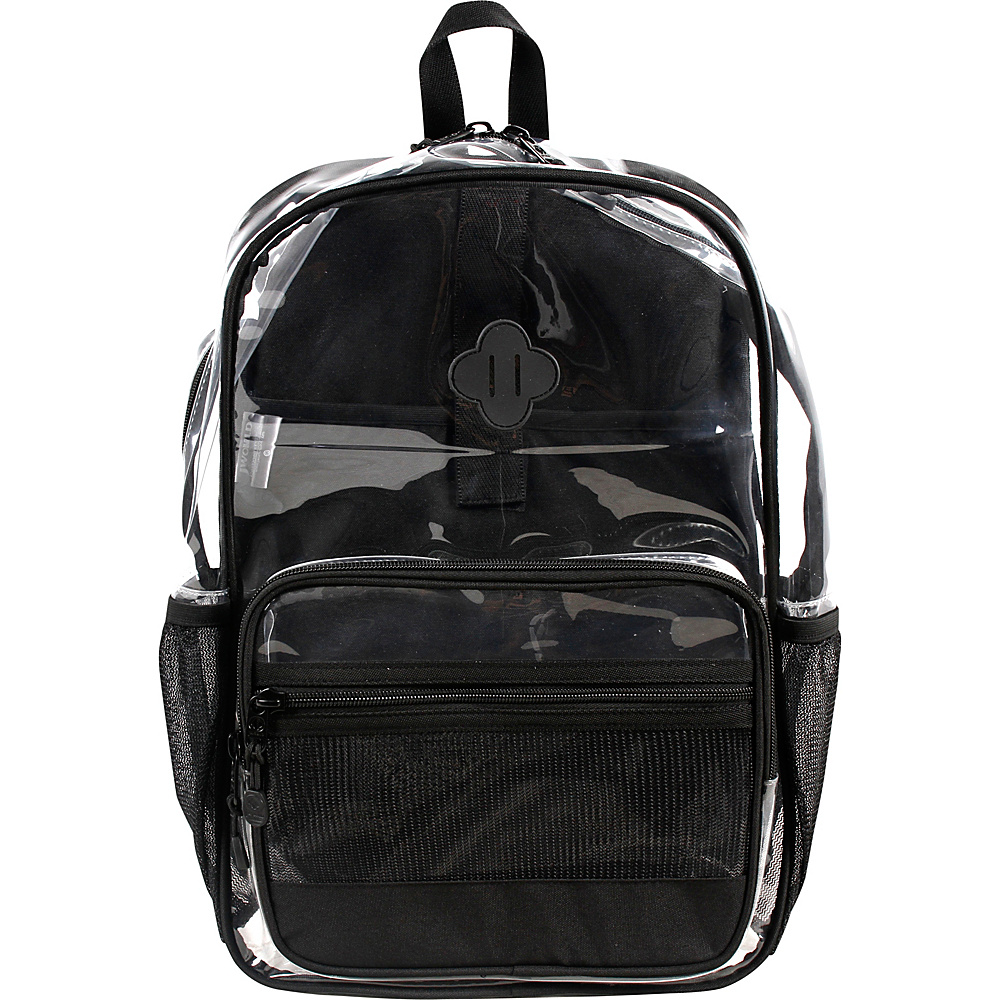 J World New York Clear Transparent Backpack Black - J World New York Laptop Backpacks - Backpacks, Laptop Backpacks