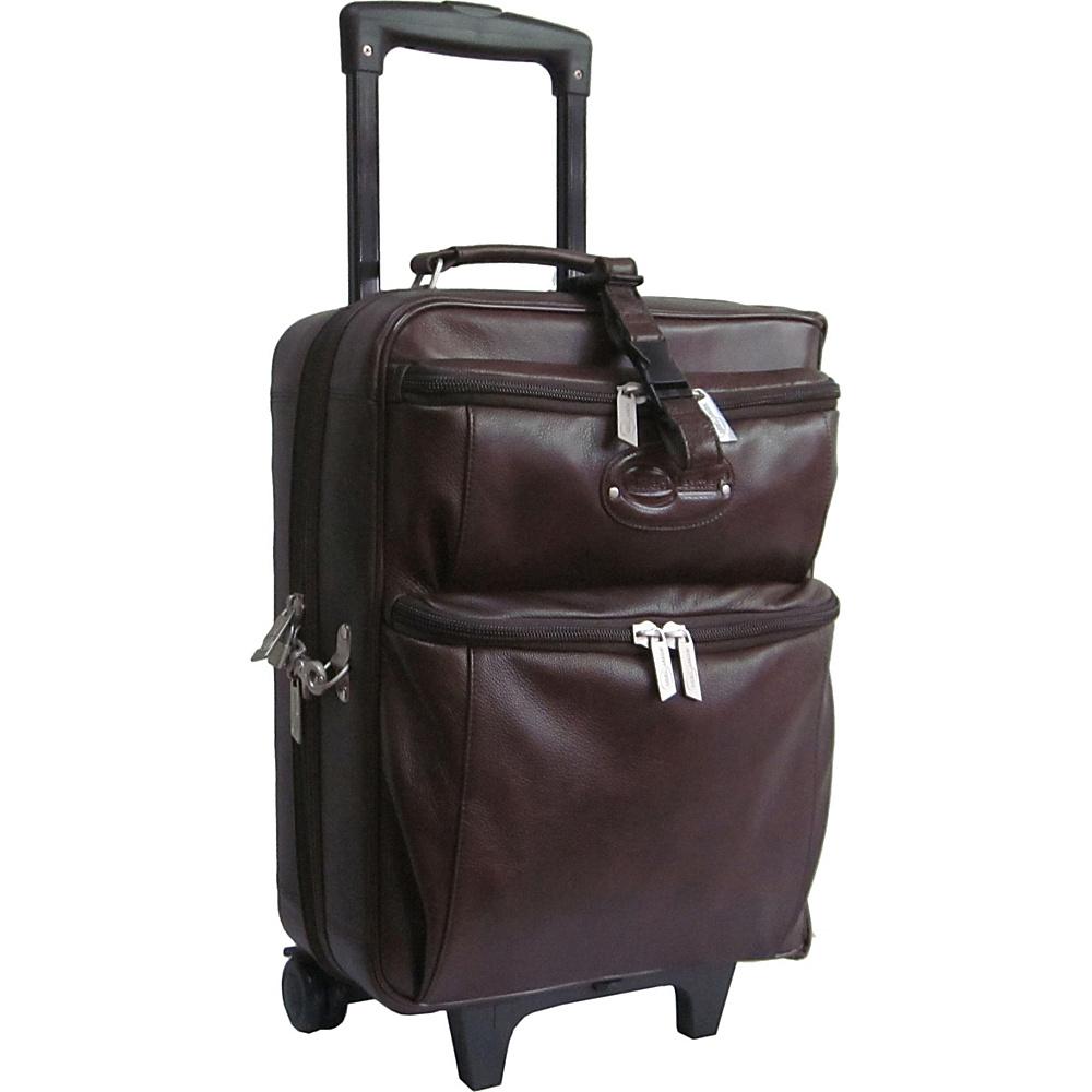 AmeriLeather Leather Novix Garment Bag Brown - AmeriLeather Garment Bags - Luggage, Garment Bags